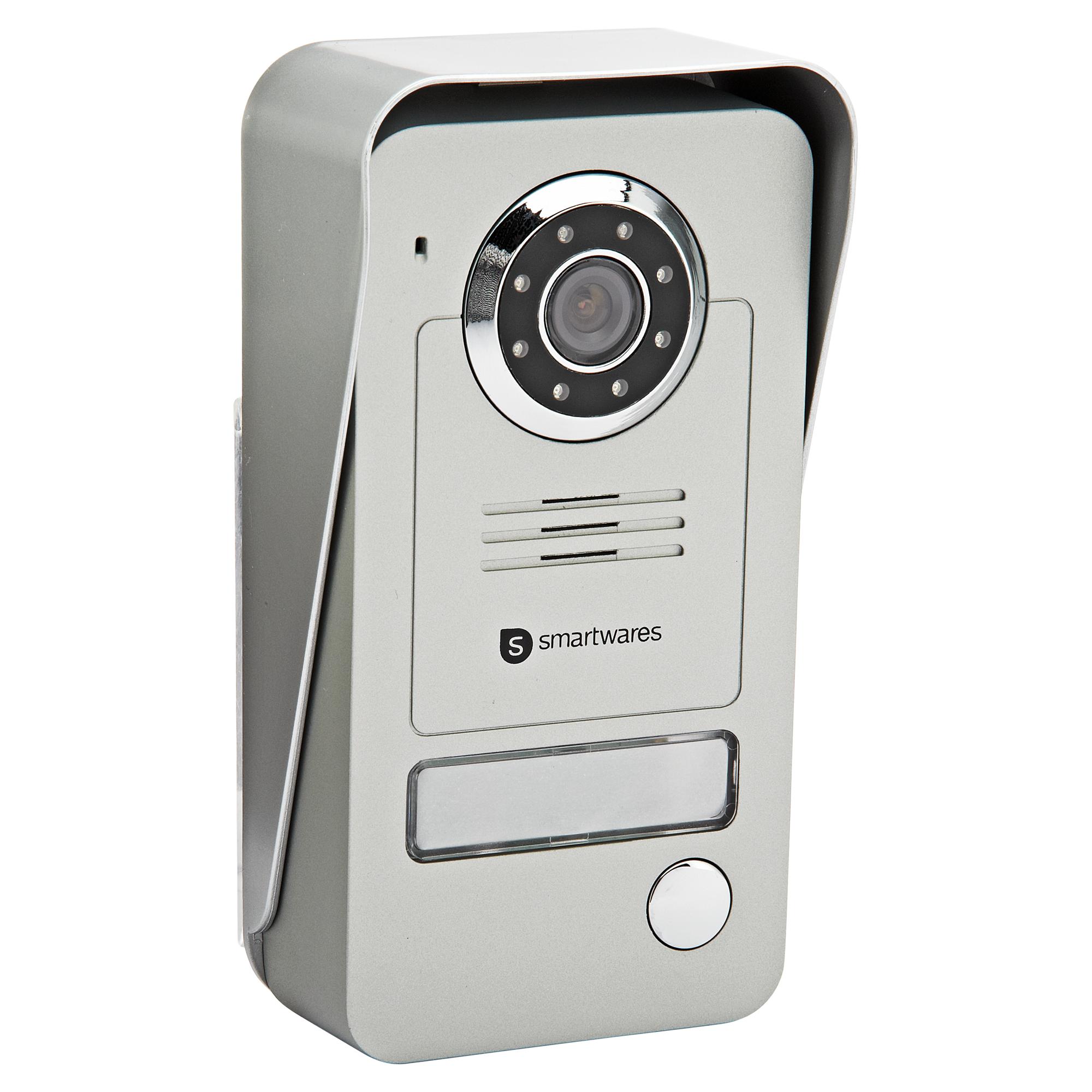 Drahtlose Türsprechanlage VD38W mit tragbarer Monitoreinheit und Kamera mit Nachtsichtfunktion Smartwares®