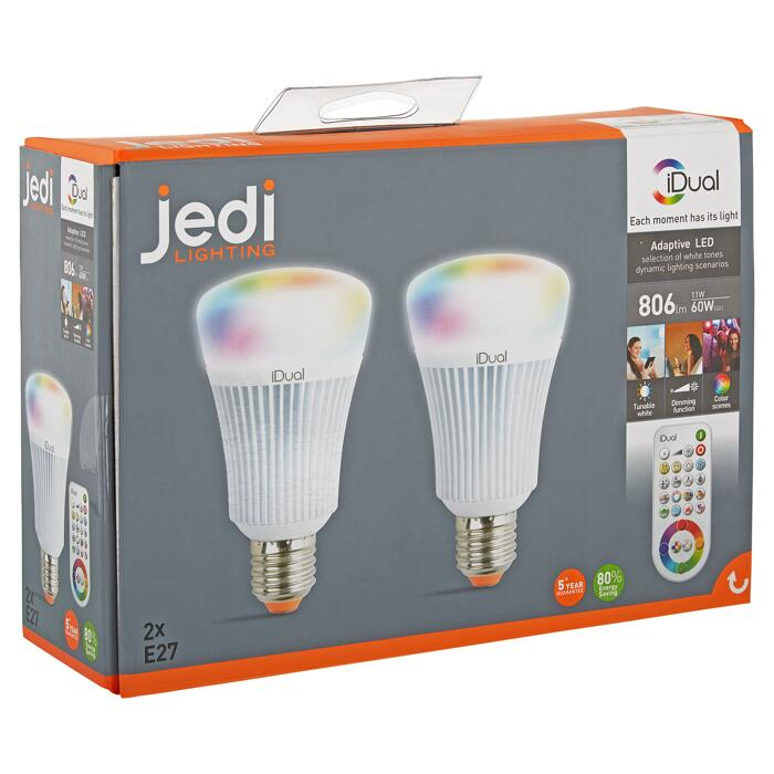 LED Lampen 'iDual' Farbwechsel E27 11 W Ø 68 x 119 mm 2 Stück