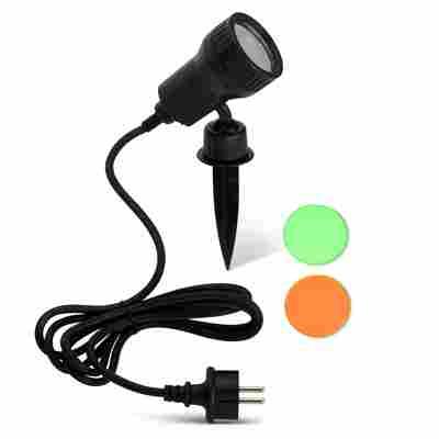 LED-Außenleuchte 'Terra' schwarz, 1-flammig, inkl. 2 Farbfiltern