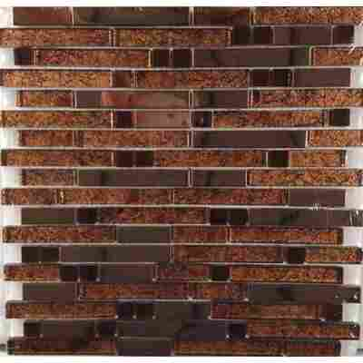 Mosaikfliese Diamond Brown 29,8 x 30,4 cm