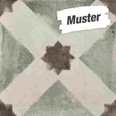 Muster zur Bodenfliese 'Vintage Stella' grau 20 x 20 cm