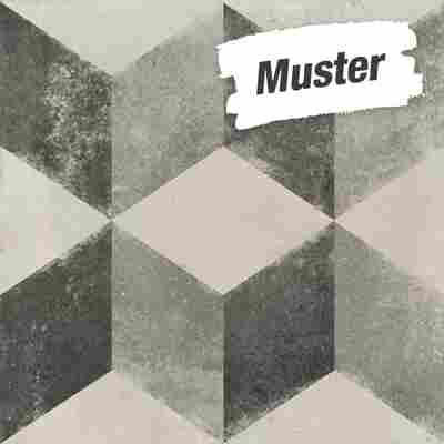 Muster zur Bodenfliese 'Vintage Cubo' grau 20 x 20 cm