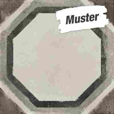Muster zur Bodenfliese 'Vintage Ottagono' grau 20 x 20 cm