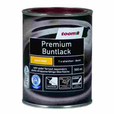 Premium Buntlack seidenmatt feuerrot 500 ml