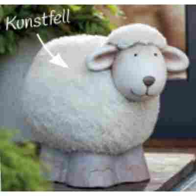 Deko-Schaf mit Kunstfell
