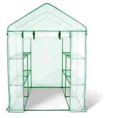 Foliengewächshaus transparent 140 x 140 x 200 cm