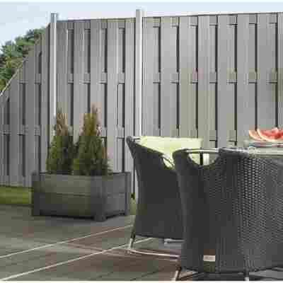 Zaunpfosten 'Jumbo WPC/Design WPC' silber 7 x 7 x 240 cm