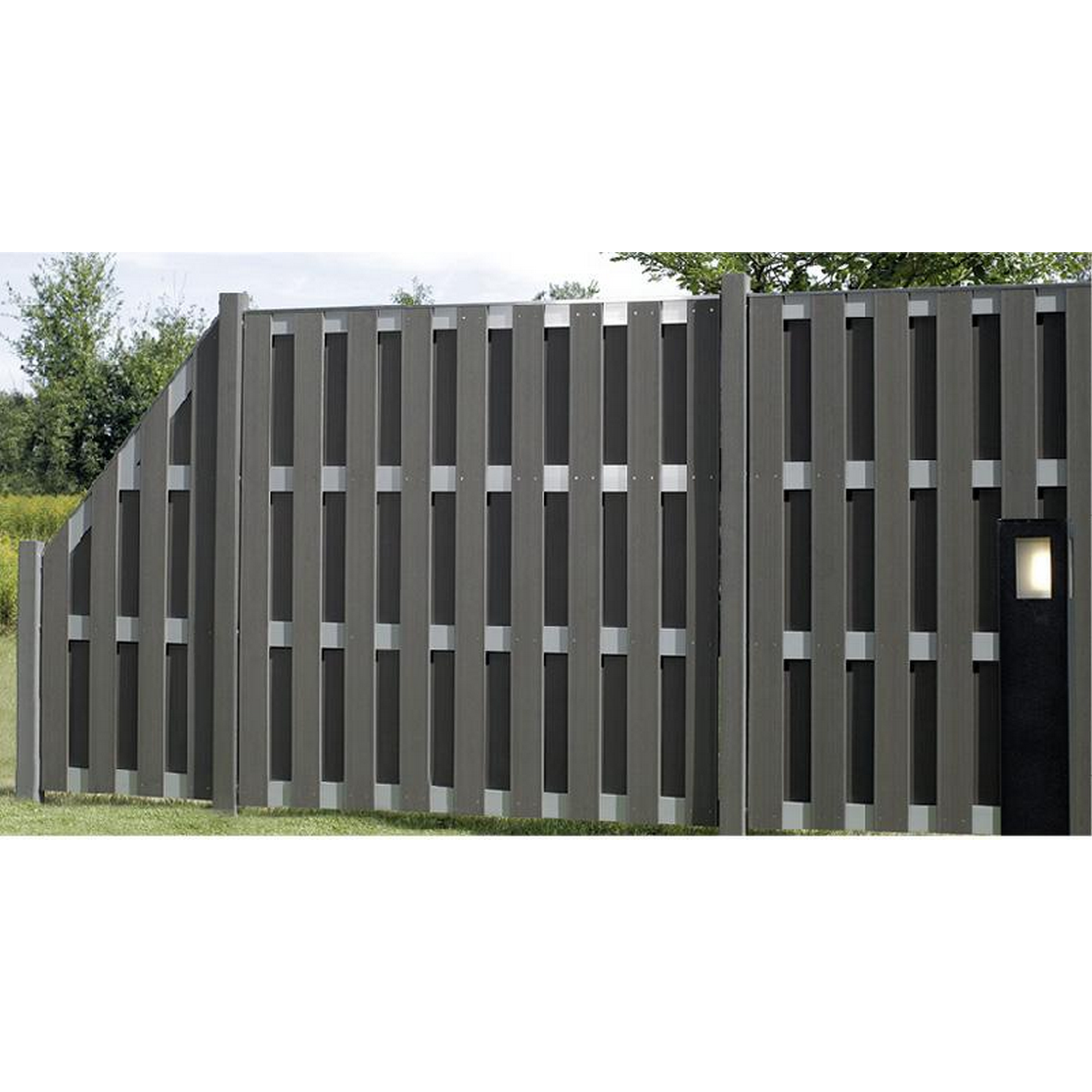 Zaunelement Jumbo Wpc Alu Anthrazit 74 X 179 Cm ǀ Toom Baumarkt