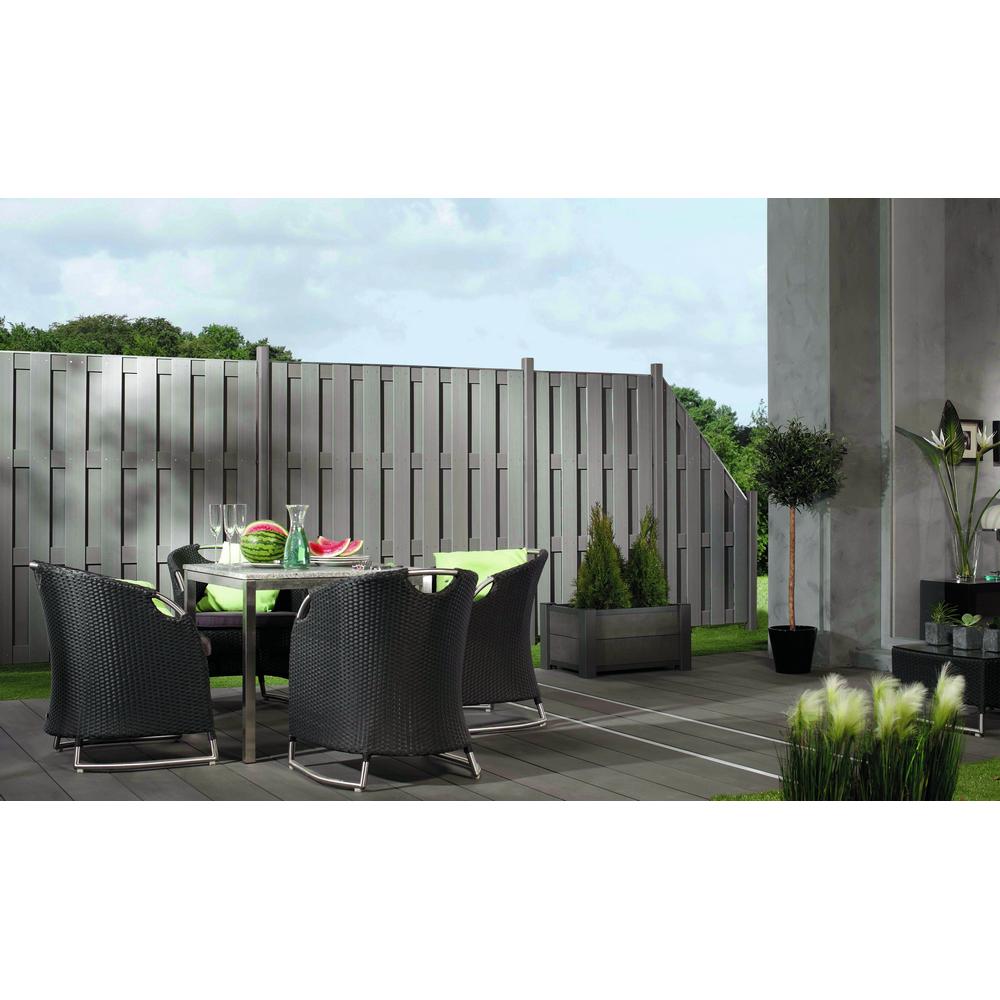 Zaunelement Jumbo Wpc Grau 179 X 179 Cm ǀ Toom Baumarkt