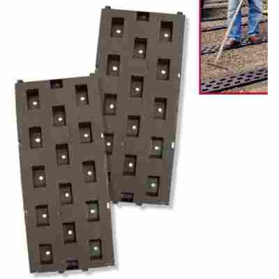 Beetplatten 21 x 50 cm 5 er Pack braun