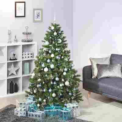 Künstlicher Tannenbaum grün 180 cm, mit LED-Beleuchtung