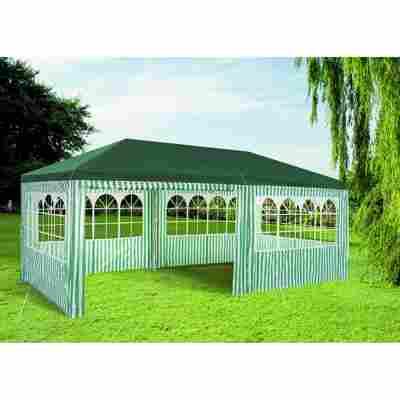 Pavillon grün-weiß gestreift 300 x 600 cm