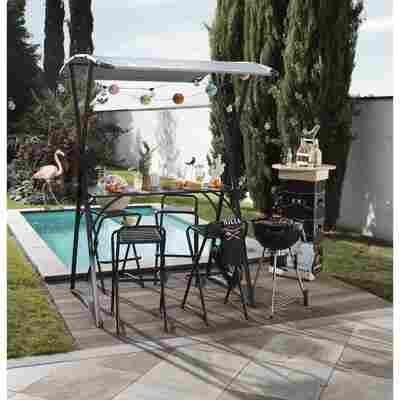 Gartenbar-Set 'Jenny' schwarz/beige, mit Sonnendach