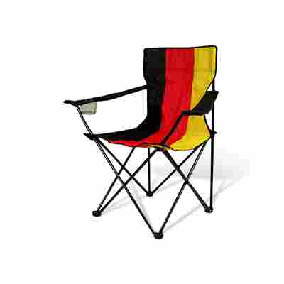 Campingstuhl 'WM' schwarz/rot/gold