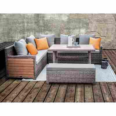 Lounge-Set 'Verona' braun/beige, 5-teilig
