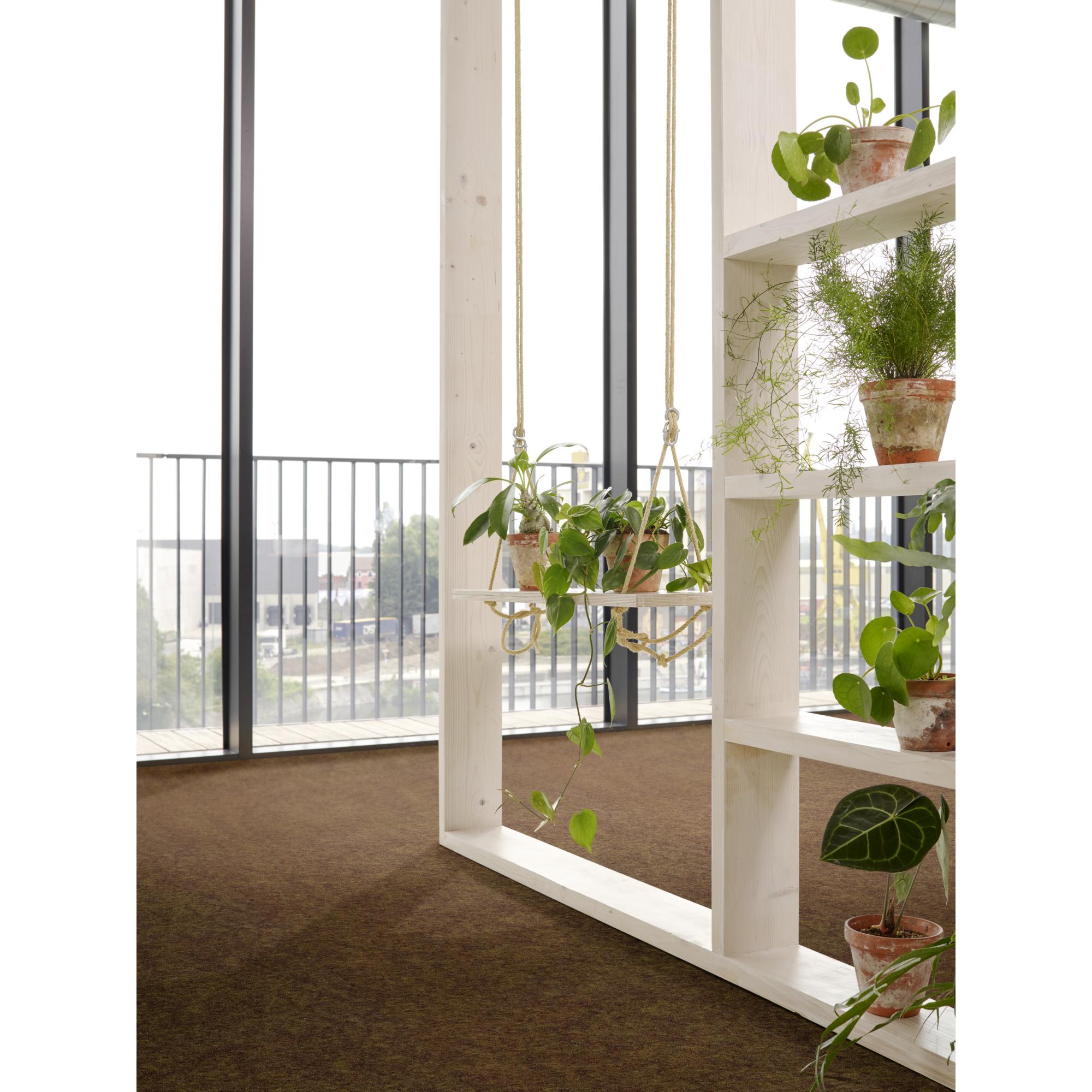 Rasenteppich Kunstrasen Comfort dunkel braun 400x430 cm