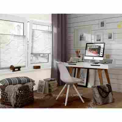 EasyFix Plissee 'Katy' weiß 100 x 130 cm