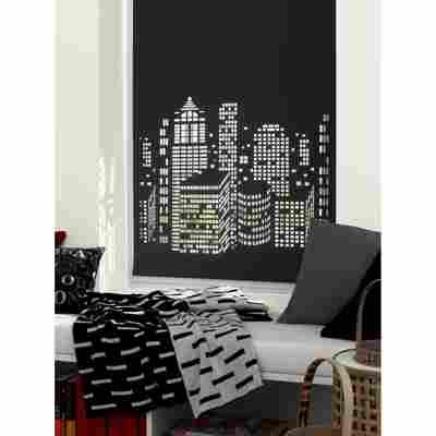 EasyFix Doppelrollo 'Cut-Out' schwarz 60 x 170 cm