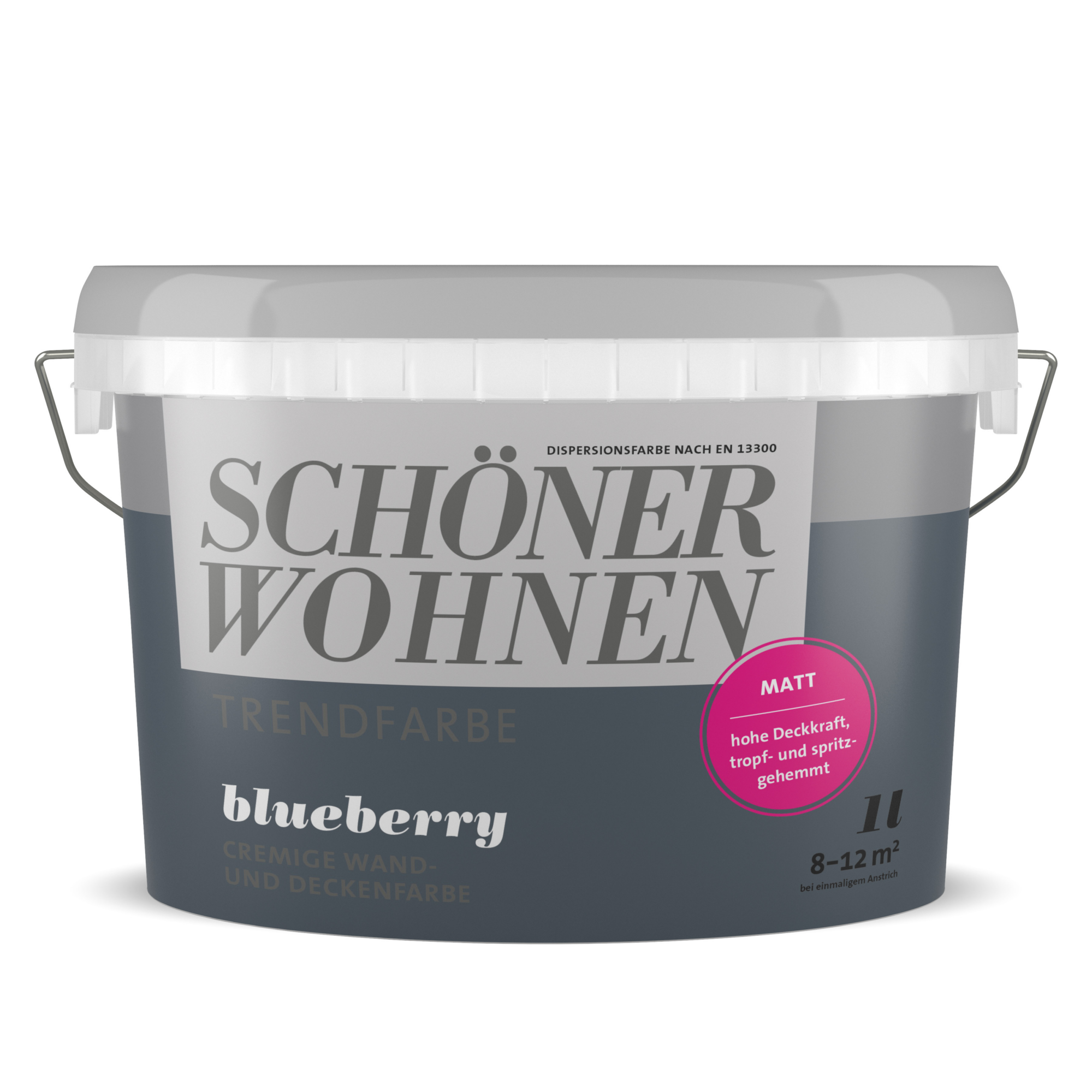 Schoner Wohnen Wand Und Deckenfarbe Trendfarbe Blueberry Blauschwarz Matt 1 L ǀ Toom Baumarkt