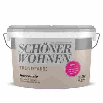 Wand- und Deckenfarbe Trendfarbe 'Hortensie' altrosa matt 2,5l