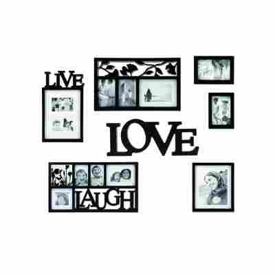 Bilderrahmen Set Live-Laugh-Love 7tlg