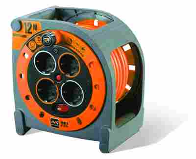 Kabelbox 12 m orange