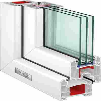Kunststofffenster weiß 1000 x 600MM DIN L
