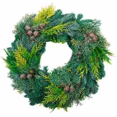 Koniferen-Adventskranz grün Ø 30 cm