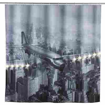 LED Duschvorhang Old Plane
