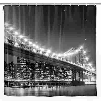LED Duschvorhang Brooklyn Bridge