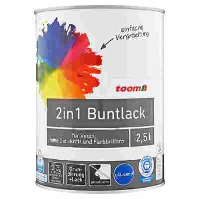 2in1 Buntlack glänzend Edelbraun 2,5 l